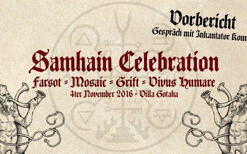 Samhain Celebration Preliminary Report