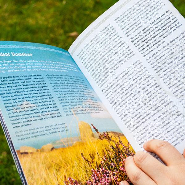 Impressionen des Probeexemplars der Waldhalla Print-Ausgabe 2017